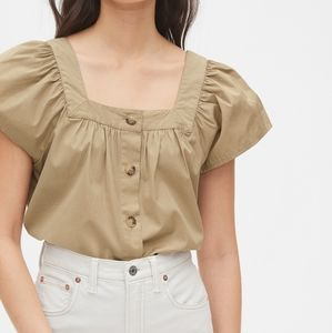 Gap Squareneck Button-Front Top